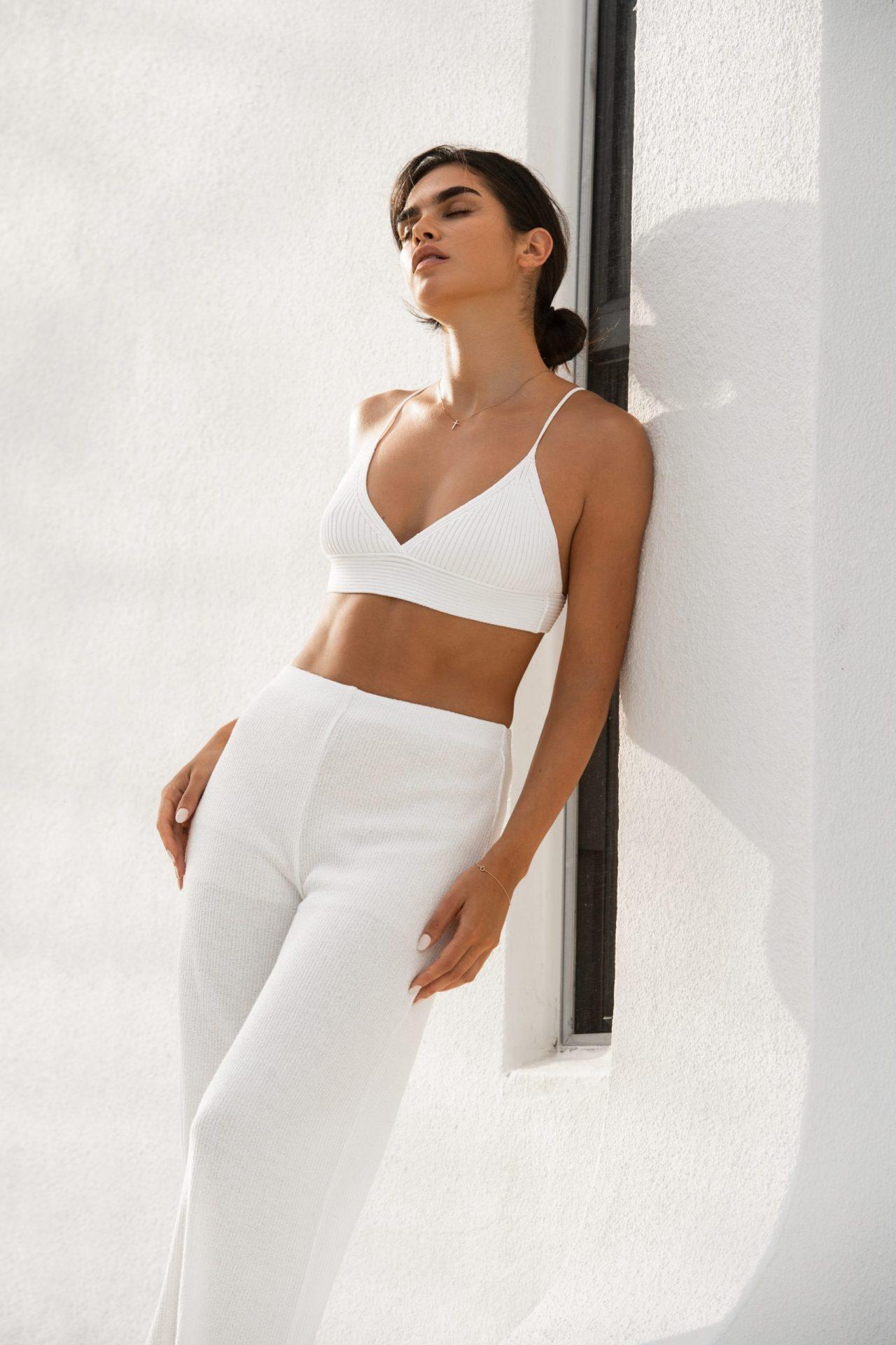 Dani Taylor in White